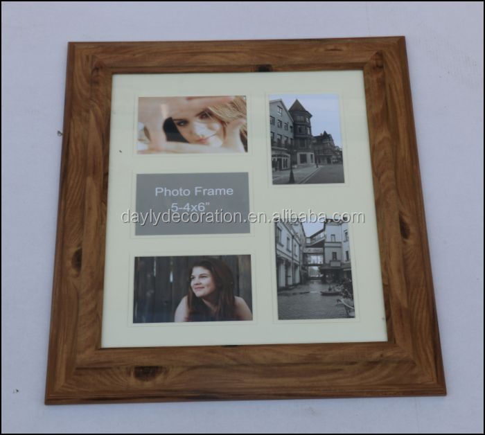 5 opening of 4x6 photos pre-cut mat board wood picture frame for Memory ture love photo frame