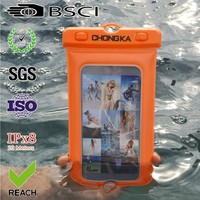 2015 cheap pvc lining waterproof bag for iphone 4/4s waterproof diving bag