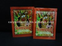 hydro flavour scooby snax herbal incense bag/with hydro brand ptinting herbal incense bag