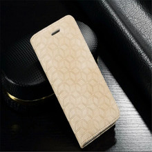 for iphone 7 4.7inch real leather flip case with wallet credit card holder ,for iphone 7 Genuine leather case Diamond pattern