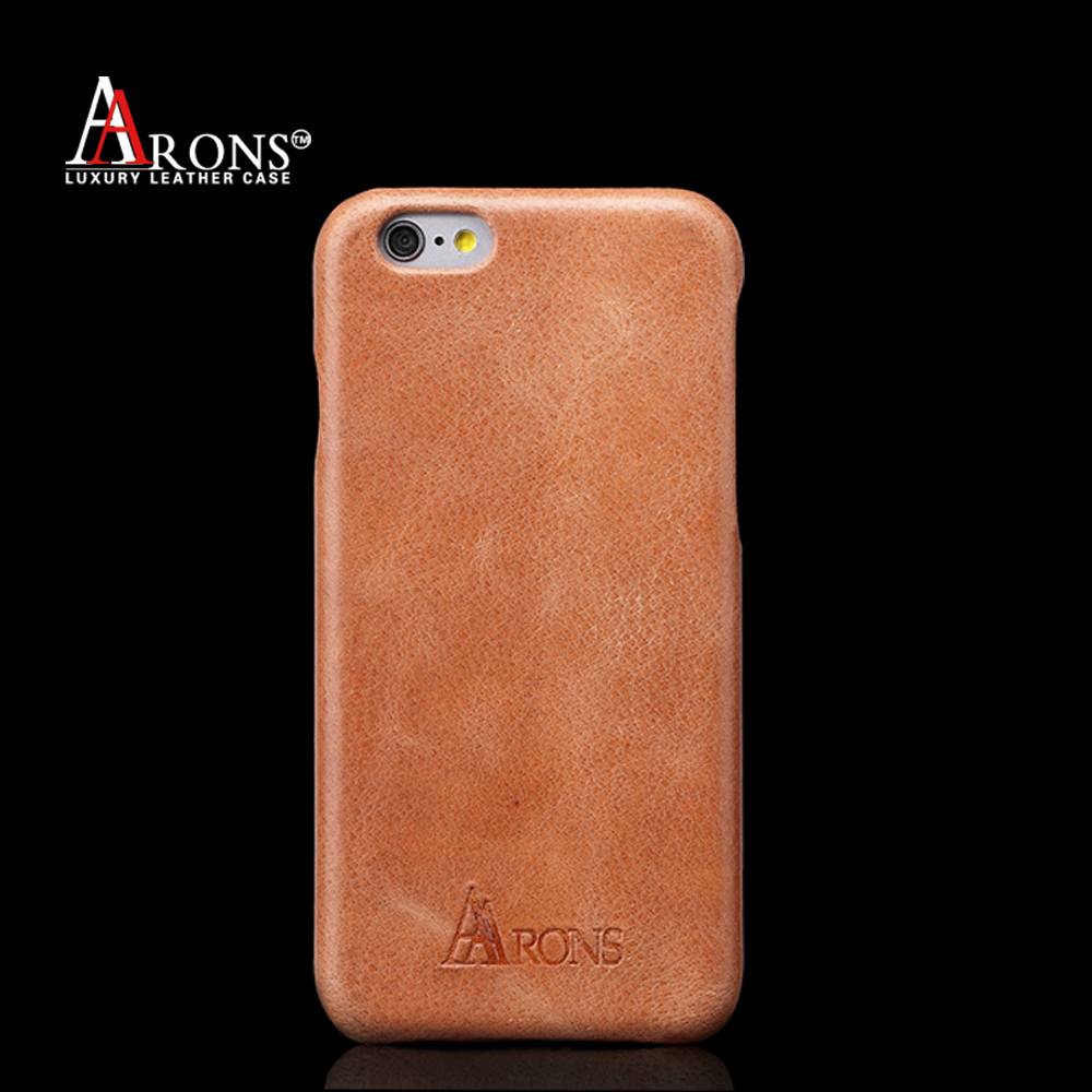 High quality leather cell phone back cover ultra slim case for iphone6