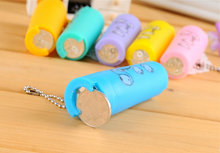 Small gift convenient plastic squeeze coin holder