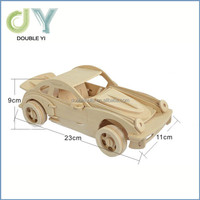 Kids educational toys wooden 3d puzzle , car model wooden puzzle