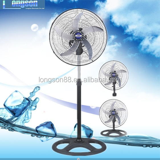 "18"" powerful industrial pedestal fan metal fan 3 IN 1 (stand fan/wall fan/floor fan)"