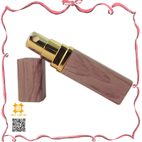 High end brown imitation wooden wrapped purse perfume atomizer