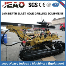 JBP100B 3.2 Tons Pneumatic Rock Auger Drilling Rig / 30m Deep Auger Drilling Rig For Mining