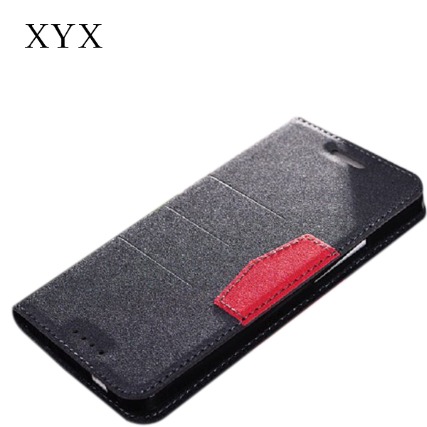 factory price book style leather case for HTC m7 mobile phone with standing function