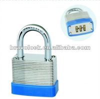 3 digit laminated combination padlock