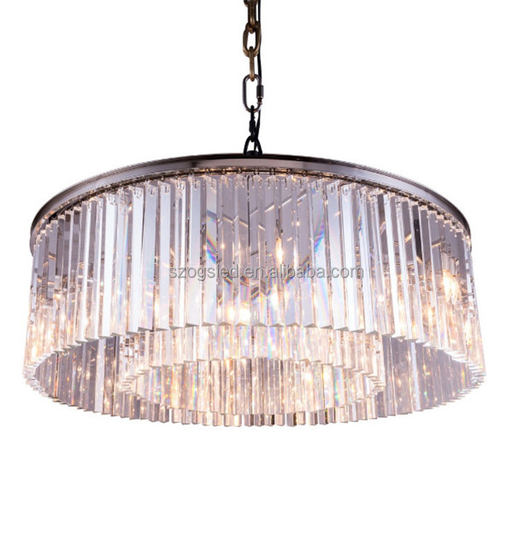 K9 Glass pendant lights zhongshan Hotel Lobby Chandelier lights , crystal round chandelier