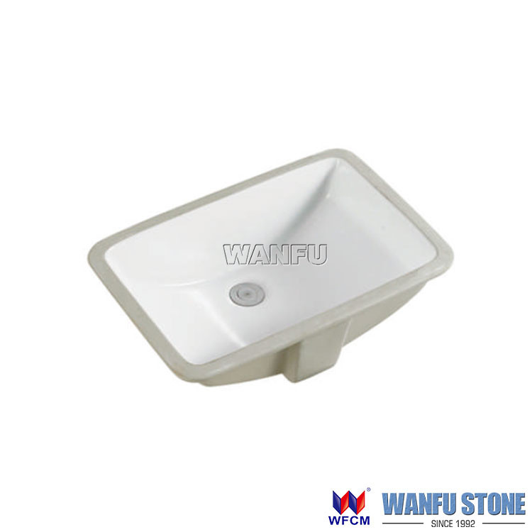 Promotion rectangular 18x12 Ceramic bathroom sink