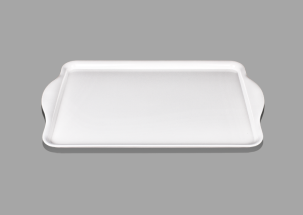 "19"" Melamine Serving Tray with Handle"