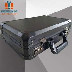 Customizable size, portable file box with code lock hard Instruments and equipment aluminum alloy flight sample carry case