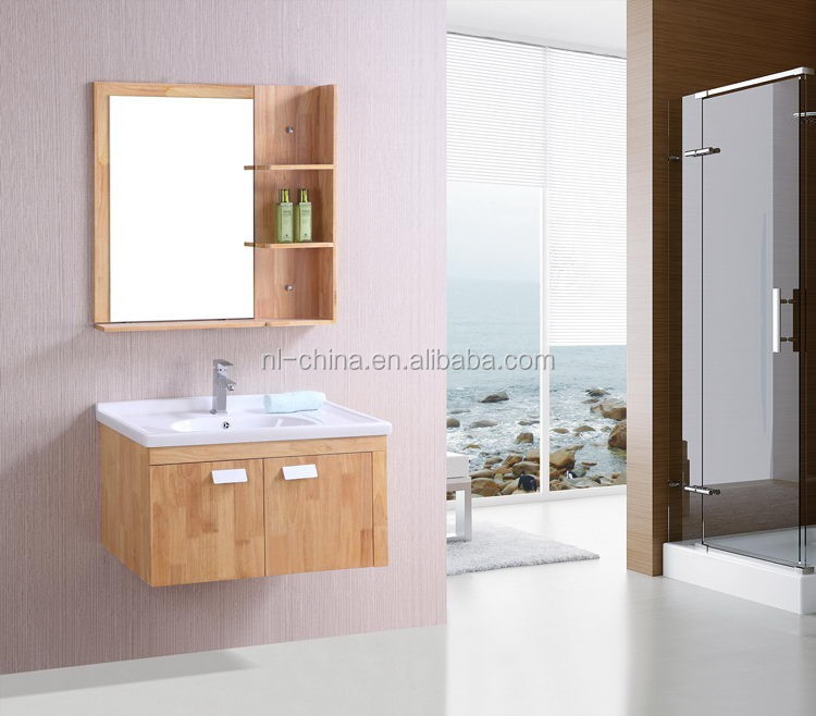 Solid wood OAK bathroom cabinet,single sink bathroom vanity,Saudi Arabia design bathroom furniture set