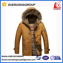 winter coat american windproof goose down jacket for men