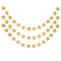 Gold Pastel Perfection Sparkling Star Garland