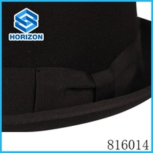 Soft black wool felt hat for men with mini brim wholesale blank hat in England tranditional style wool black Jewish hat