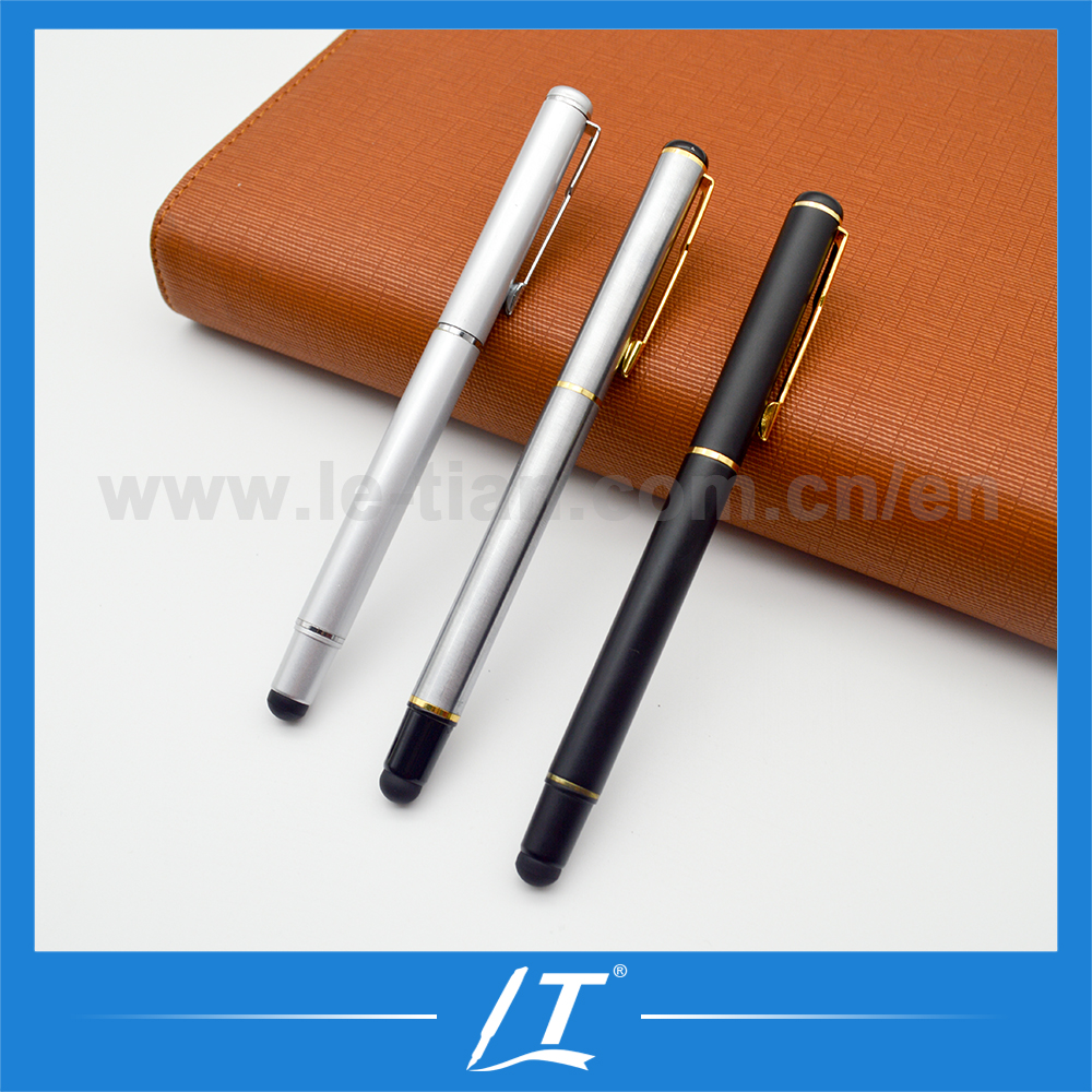 Executive gift set half metal ball pen cheap stylus stationery