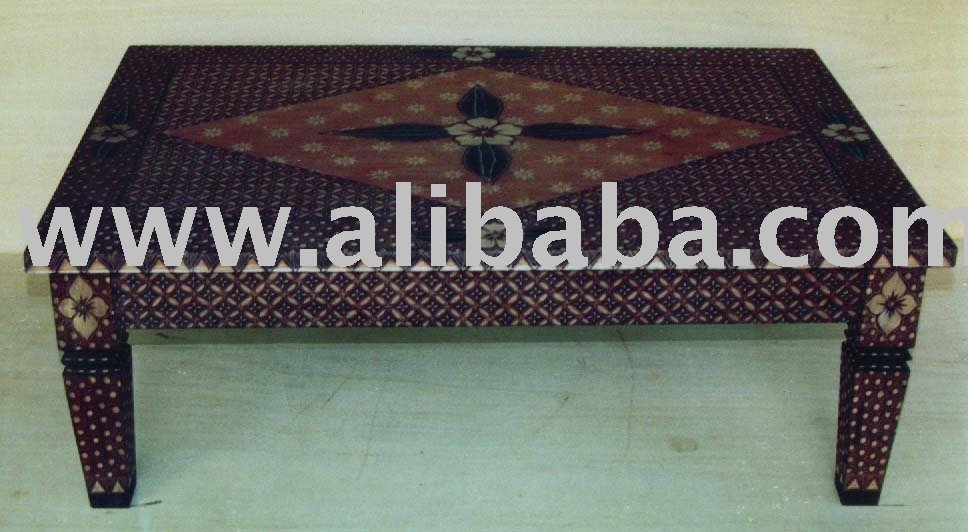 Living Room Table with Batik Motifs
