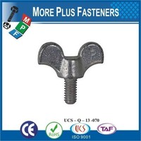 Made in Taiwan Stainless Steel Zinc Coated Butterfly Malleable Iron Stamped Wing Screw