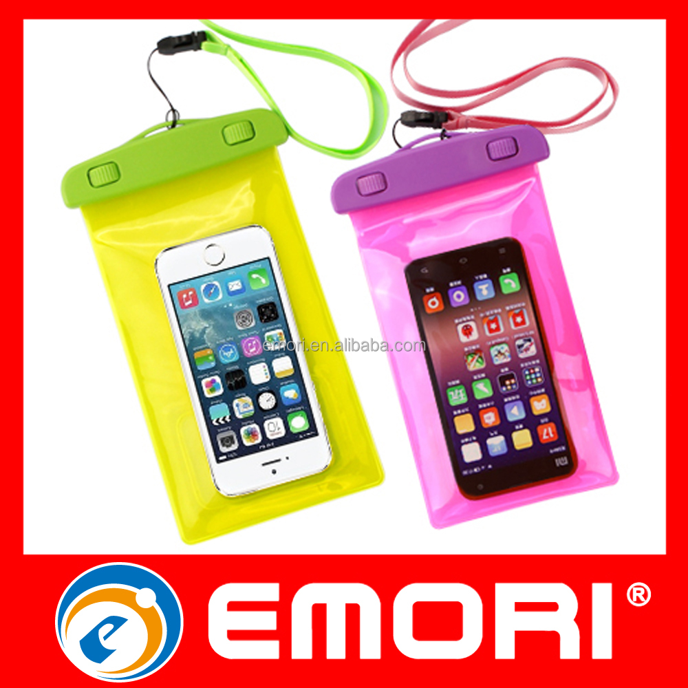 Hot sale portable sealed pvc waterproof phone pouch