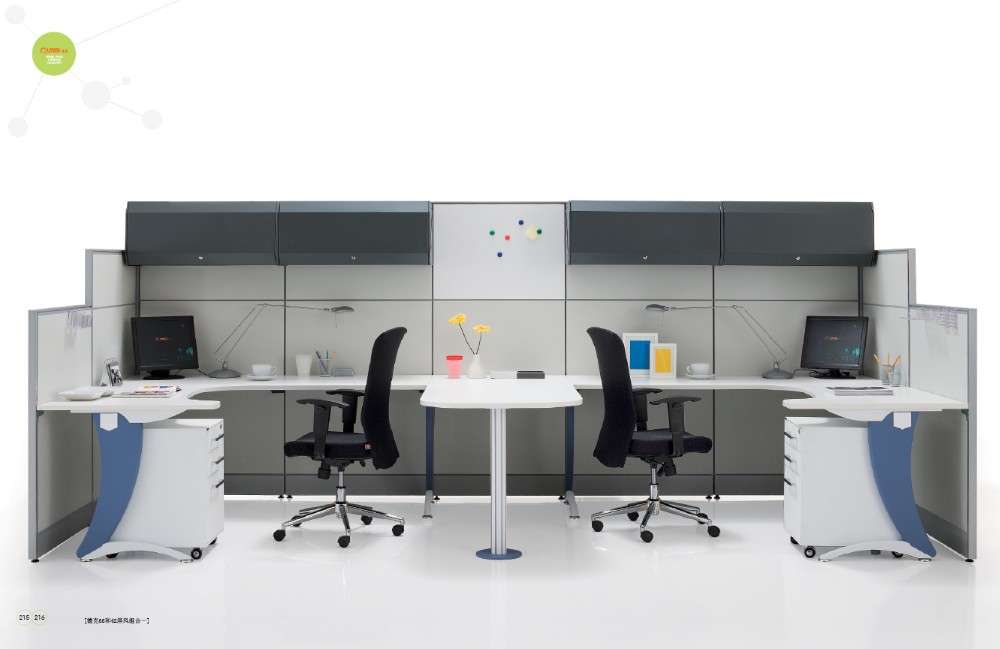 china supplier office furniture 4 people cluster