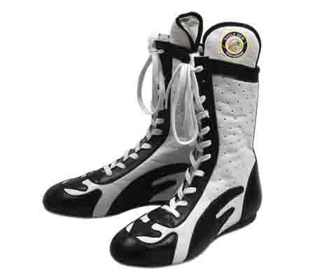 Boxing Shoes Made from PVC and Leather