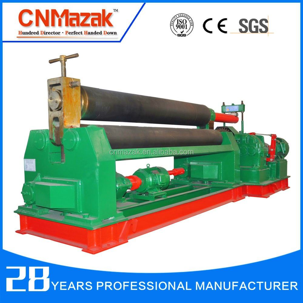 Hot sale <strong>W11</strong>-8X2500 mechanical 3-roller symmetrical steel plate <strong>rolling</strong> <strong>machine</strong> price on alibaba website
