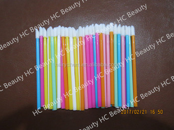 new arrive,colors disposable lip brushes for Eyelash extensions