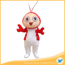 Real Picture Red Fancy Dress Outfit Deluxe Shrimp Lobster Mascot Costume for Promotion Activities