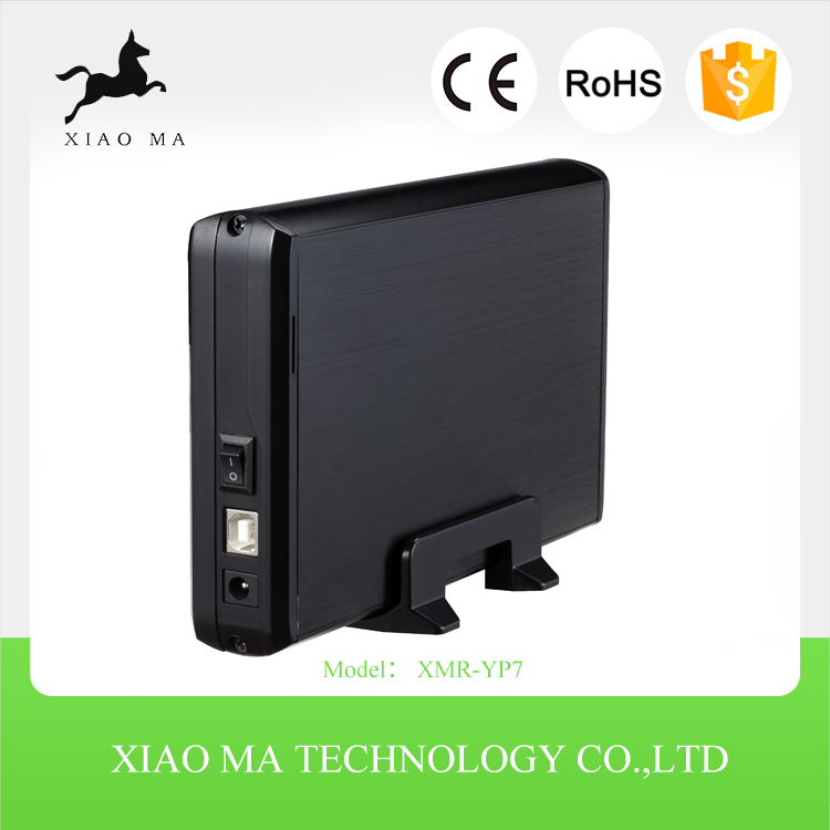 "USB 2.0 & Tool-free 3.5 Inch SATA HDD External Enclosure Case for 9.5mm 7mm 3.5"" SATA Hard Disk Drive and SSD XMR-YP7"