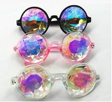 promotion kaleidoscope glasses factory crystal lens kaleidoscope sunglasses party glasses
