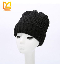 Thick warm winter beanie hijab fleece cap and hat