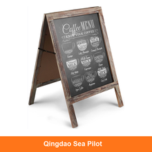 Double Sided A Frame Wooden Chalkboard Sign Rustic Freestanding Wooden Magnetic Blackboard