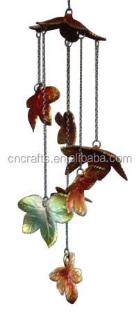 Canada Area Style Colourful Color Cast Iron Leaf Wind Chimes
