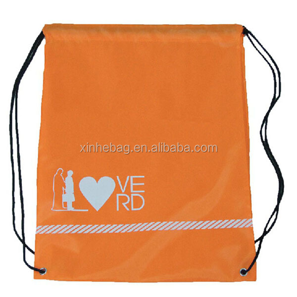 recycled waterproof polyester drawstring bag