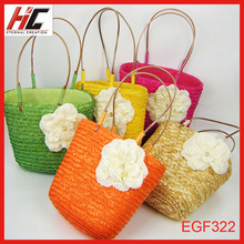 New Arrival hot selling beach straw bag candy Lovely handle bag for kids and ladies