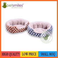 oval polka-dotted printing fabrice pet bed dog bed