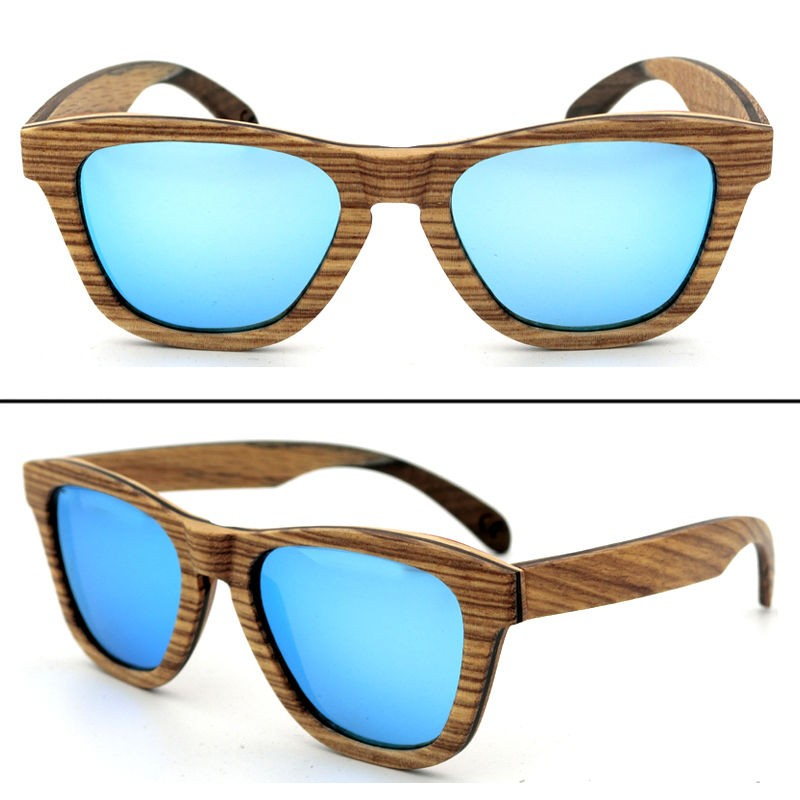 Unisex Women Men 100% Natural skateboard wood For Glasses Polarized Sunglasses