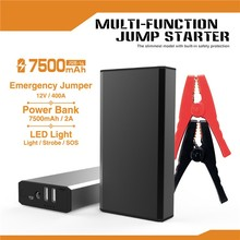 Metal case portable power bank 7500 mah car jump starter auto battery charger