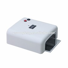 1Pcs White/Pink Color UV Lamp 36W Nail Art Dryer Gel Curing Light ,Manicure Drying Fan EU Plug