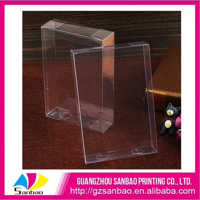 Small transparent plastic box PET case for playing cards