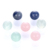 16mm Multicolor Gemstone Round Ball Loose Beads, Custom Size And Stone