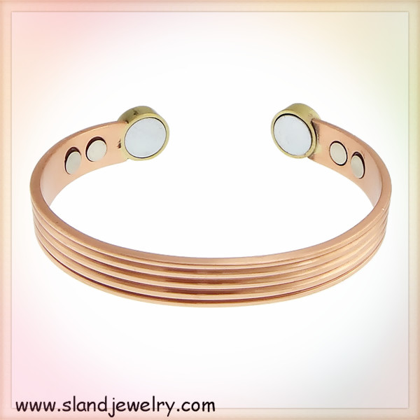 Alibaba website Hot product high quality eco-friendly jewelry pure copper bio health magnetic bracelet