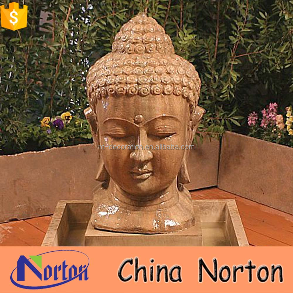 indian religious stone statue buddha head water fountain decoration NTMF-S416X