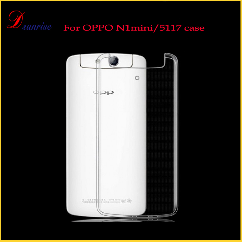 Transparent Slim Anti Slip Cover Case for Oppo n1 Mini N5117 Cell Phone