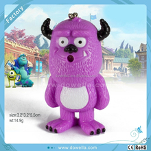 Good Plastic 3d cute animal shape keychains with sound for Promotion