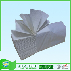 1 ply white Z fold disposable bathroom paper hand towel