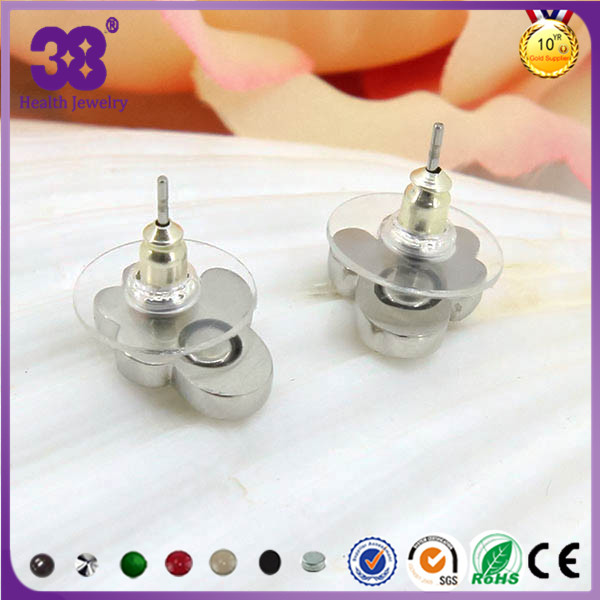 Top selling with dog footprints earring gold silver earring