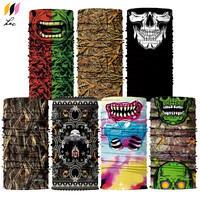 Hot Sale Camo Face Mask Outdoor Multifunctional Sports Magic Scarf Tube Seamless Scarf Wholesale Head Wraps