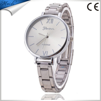 2016 New Fashion Ladies Girl Unisex Stainless Steel Bangle Wrist Watch Quartz Dress Watches Women Relogios GW039